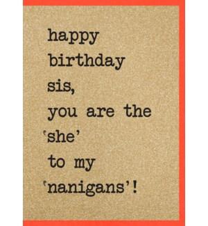 RBDB/Sis,'She' to My 'Nanigans