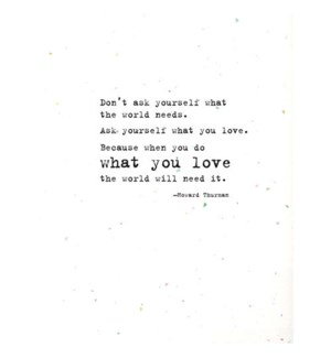 GR/What You Love