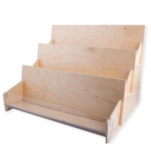 DISP/Lg 3 Tier Wood Count Disp