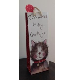 GIFTBAG/Thank You Cat - Bottle