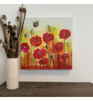 CANVAS/Bee And Poppies