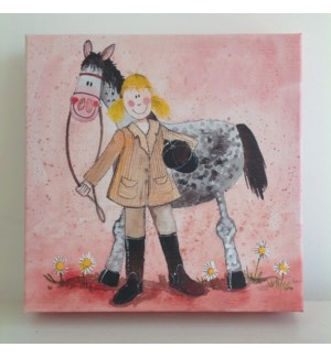 CANVAS/Girl And Horse SM
