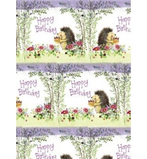 GIFTWRAP/BIRTHDAY HEDGEHOG