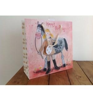 GIFTBAG/Girl & Horse LG