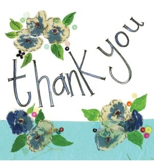 TYB/Blue Flowers Thank You