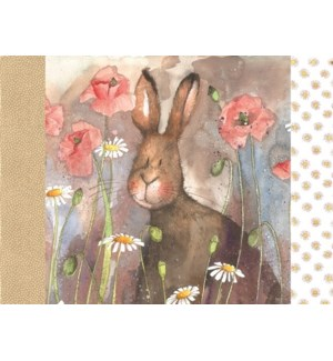 PLACEMAT/Hare & Poppies