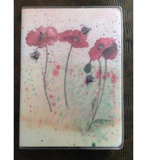 NOTEBOOK/Poppies Plastic