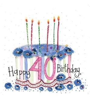 ABDB/40 Year Old Cake
