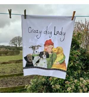 TEATOWEL/Crazy Dog Lady