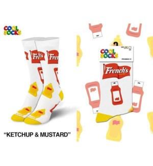SOCKS/French Ketchup Mustard*