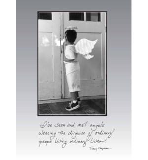 TY/angel walking in doorway