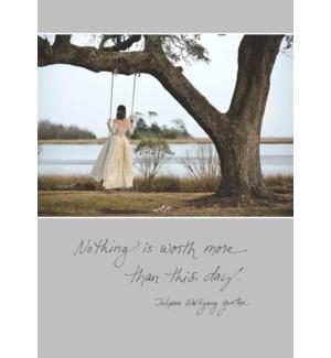 WD/Bride Swinging Under Tree