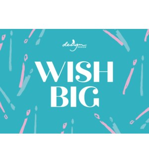 POP/Wish Big Candle Disp Sign