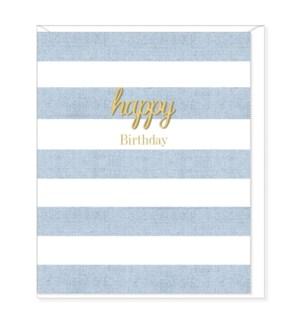 BDB/Happy Birthday Blue Stripe