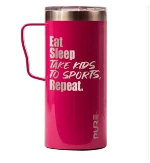 MUG/Eat Sleep Repeat Rasp 18oz