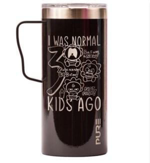 MUG/I Was Normal Black 18oz