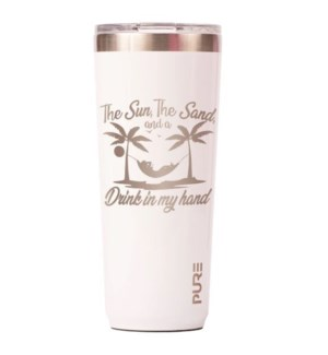 TUMBLER/The Sun Sand Wht 22oz