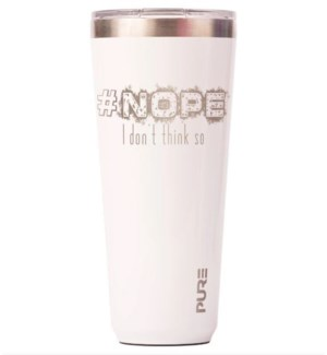 TUMBLER/#NOPE White 32oz