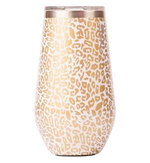 WINE/Cheetah Print Gld Foil 16