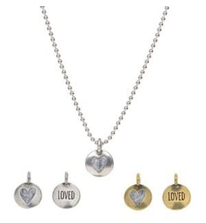 HOG/Silver Chain w Loved Charm
