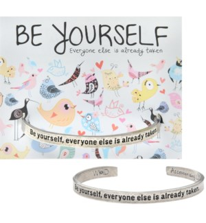QUOTECUFF/Be Yourself on Card