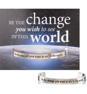 QUOTECUFF/Be The Change w Card