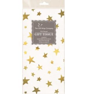 TISSUE/Foil Stars Gold