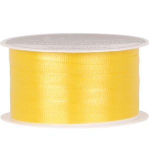 RIBBON/Yellow Solid Curling