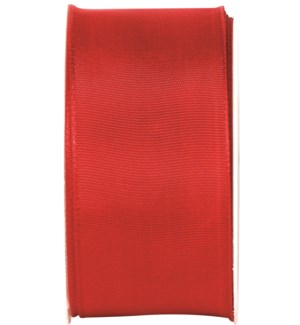 RIBBON/Wire Edge Red