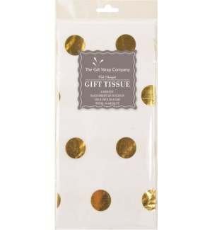 TISSUE/Foil Dots Gold