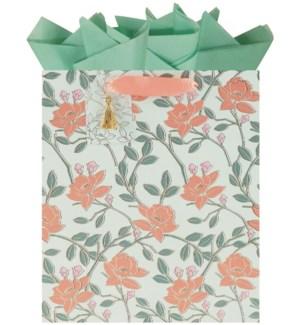 GIFTBAG/Floral Whisp Lrg