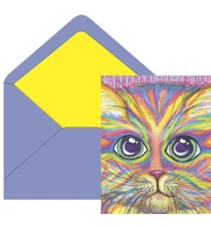 NOTECARD/AL Neon Kitty