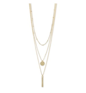 NECKLACE/Gold Charm Necklace