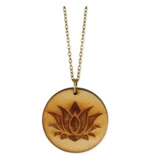 NECKLACE/Wood Lotus
