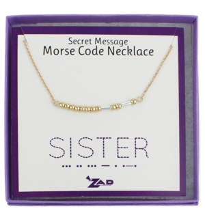 NECKLACE/Sister Morse Code