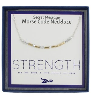 NECKLACE/Strength Morse Code