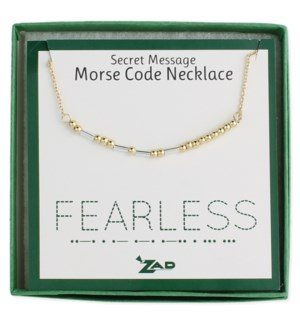 NECKLACE/Fearless Morse Code