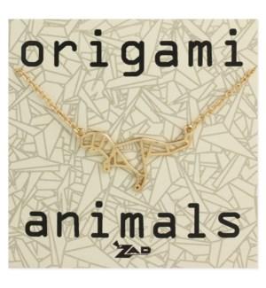 NECKLACE/Origami Dinosaur