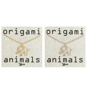 NECKLACE/Origami Elephant