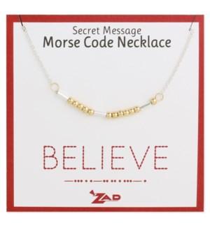 NECKLACE/Believe Morse Code