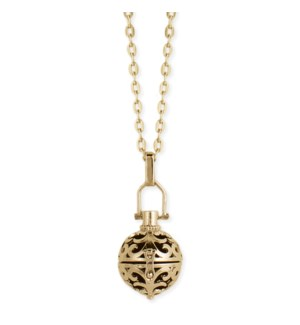 NECKLACE/Gold Oil Diffuser