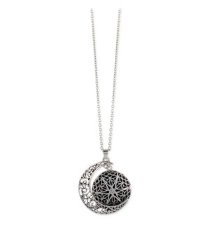 NECKLACE/Silver Filigree Moon