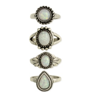 RING/Opal & Silver Band