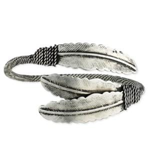 BRACELET/Silver Feather Cuff