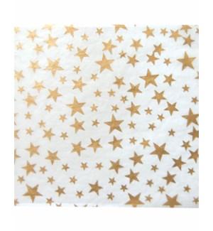 TISSUE/Gold Stars On White