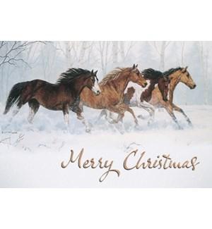 BOXEDCLASSIC/Horses snow