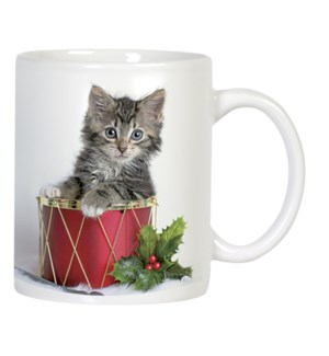 MUG/Cat in red drum
