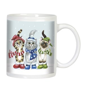 MUG/Cats wearing scarves