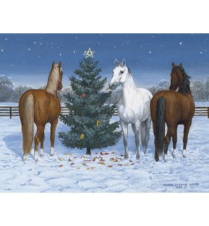 BOXEDNOTE/Horses and tree