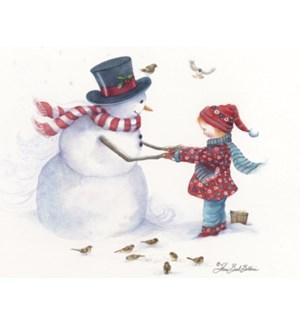 BOXEDNOTE/Snowman & girl